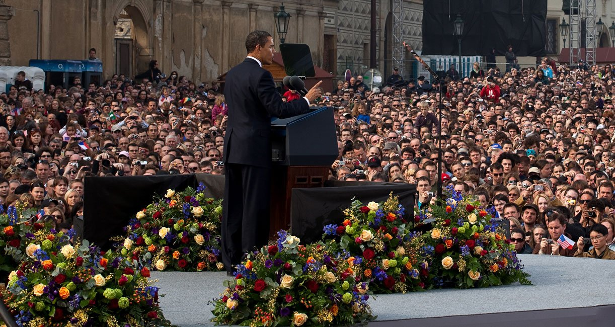 Obama in Praag in 2009