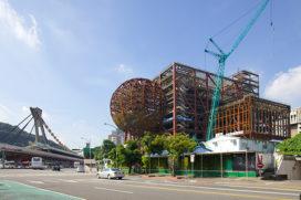 OMA's Centrum voor Beeldende Kunsten in Taipei bereikt hoogste punt