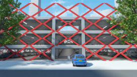 Flexibele en demontabele demonparkeergarage