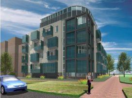 Glazen prefab balkons voor transformatie kantoorcomplex Geinzicht