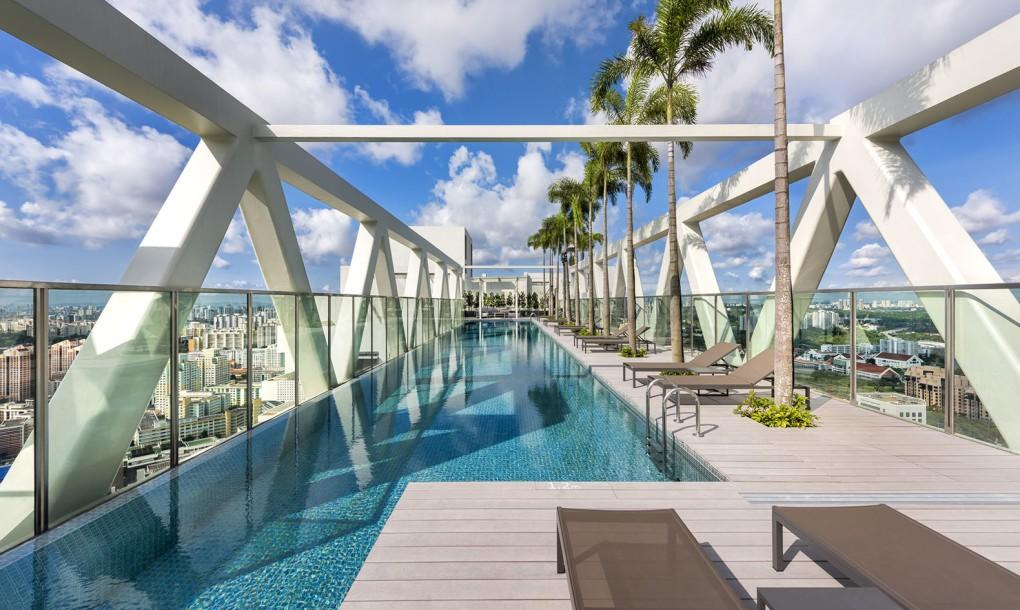 Render Ster van de Week - Sky Habitat Singapore door Safdie Architects