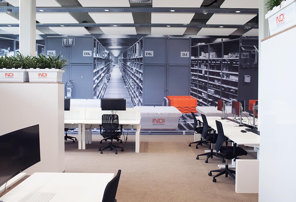 Studio mfd ontwerpt industrieel interieur voor kantoor indi de