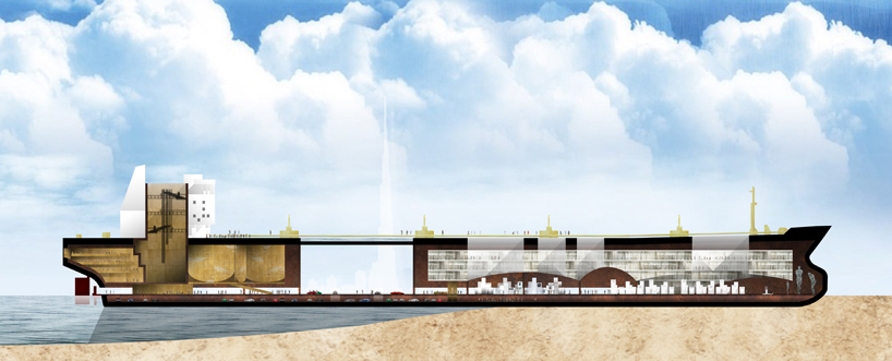 Olietanker als steden door Chris Collaris Design