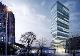 Toren met taille in Wenen  door MVRDV