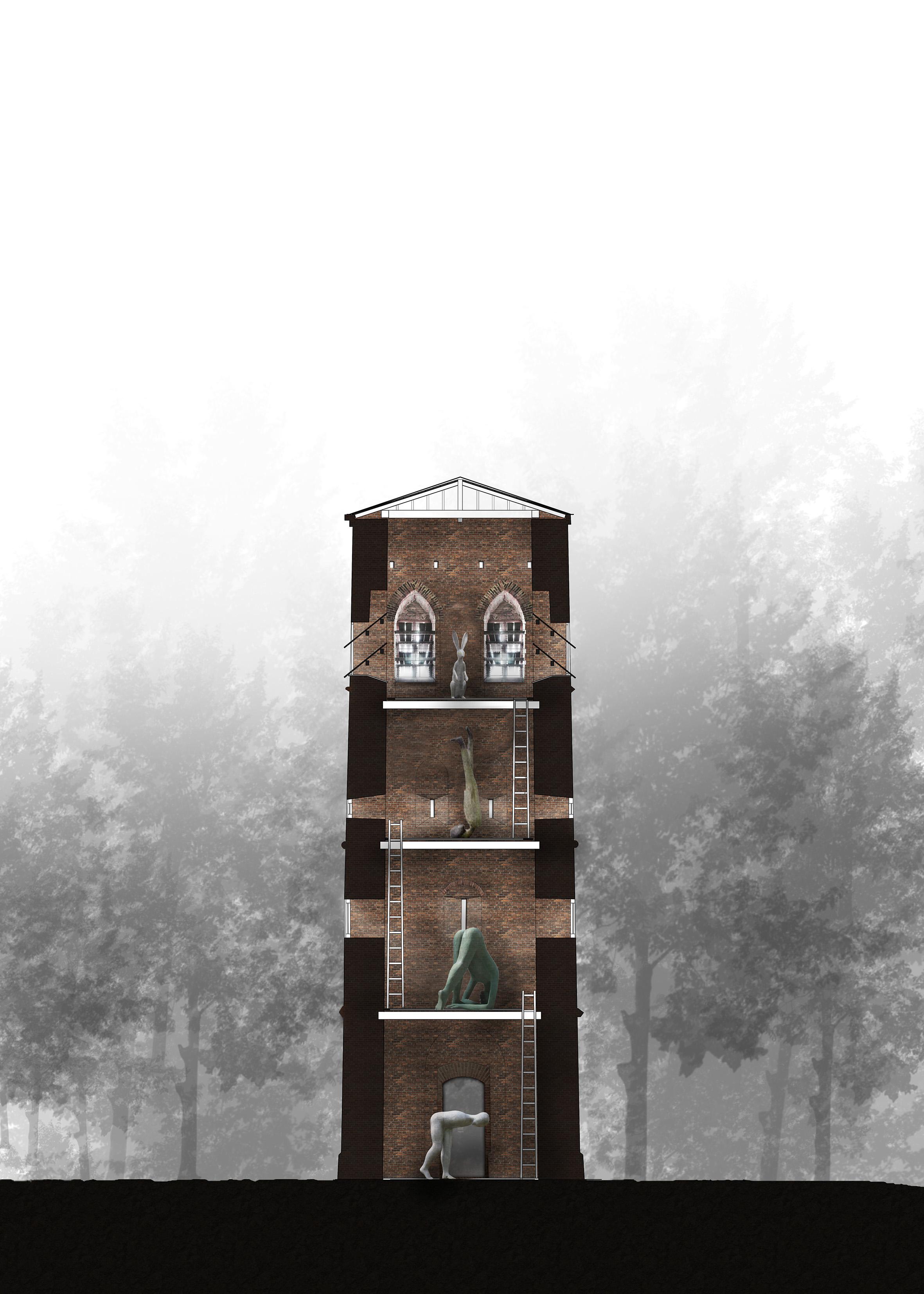 Eenzame toren door en|en architecten