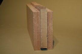 Binnenwand van geperste houtresten
