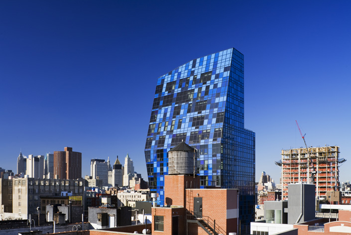 Opinie Pepijn Bakker - NY Poor Door _ Bernard Tschumi Blue Tower New York City