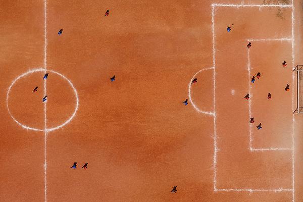 Voetbal Favelas Brazilie