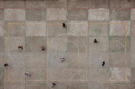 Voetbalveldjes van de Braziliaanse favelas