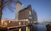 Herbestemming van silo tot horeca in Deventer door Wenink Holtkamp Architecten.