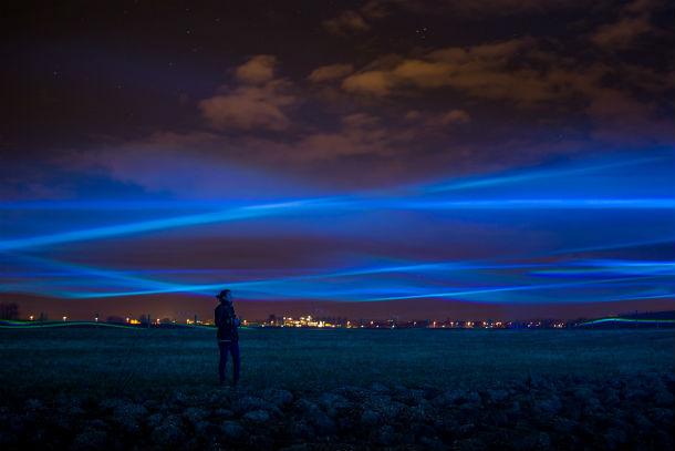 Waterlicht Daan Roosegaarde.Foto Thea van den Heuvel van DAPh