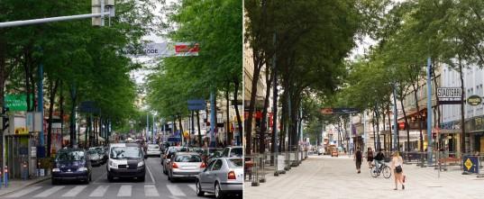 Wenen_Langste winkelstraat gereviseerd door Buro B+B en Orso.pitro