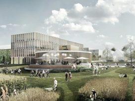 Render ster van de week Uitbreiding Agro Food Park Denemarken door William McDonough + Partners en GXN