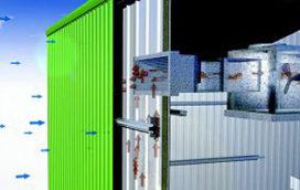 Metalen gevel warmt gebouw efficiënt op