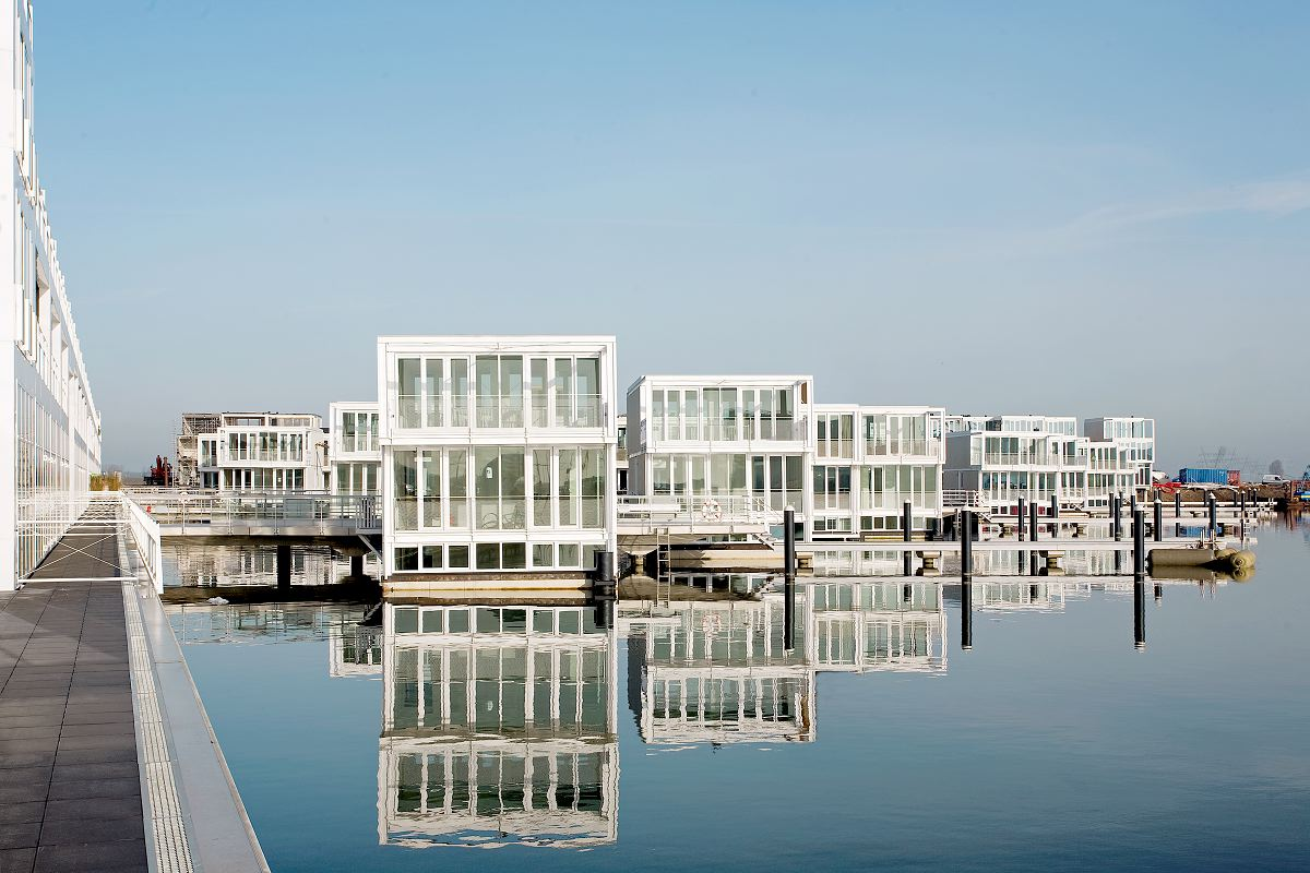 Wonen In Ijburg : Waterwoningen in ijburg amsterdam de architect