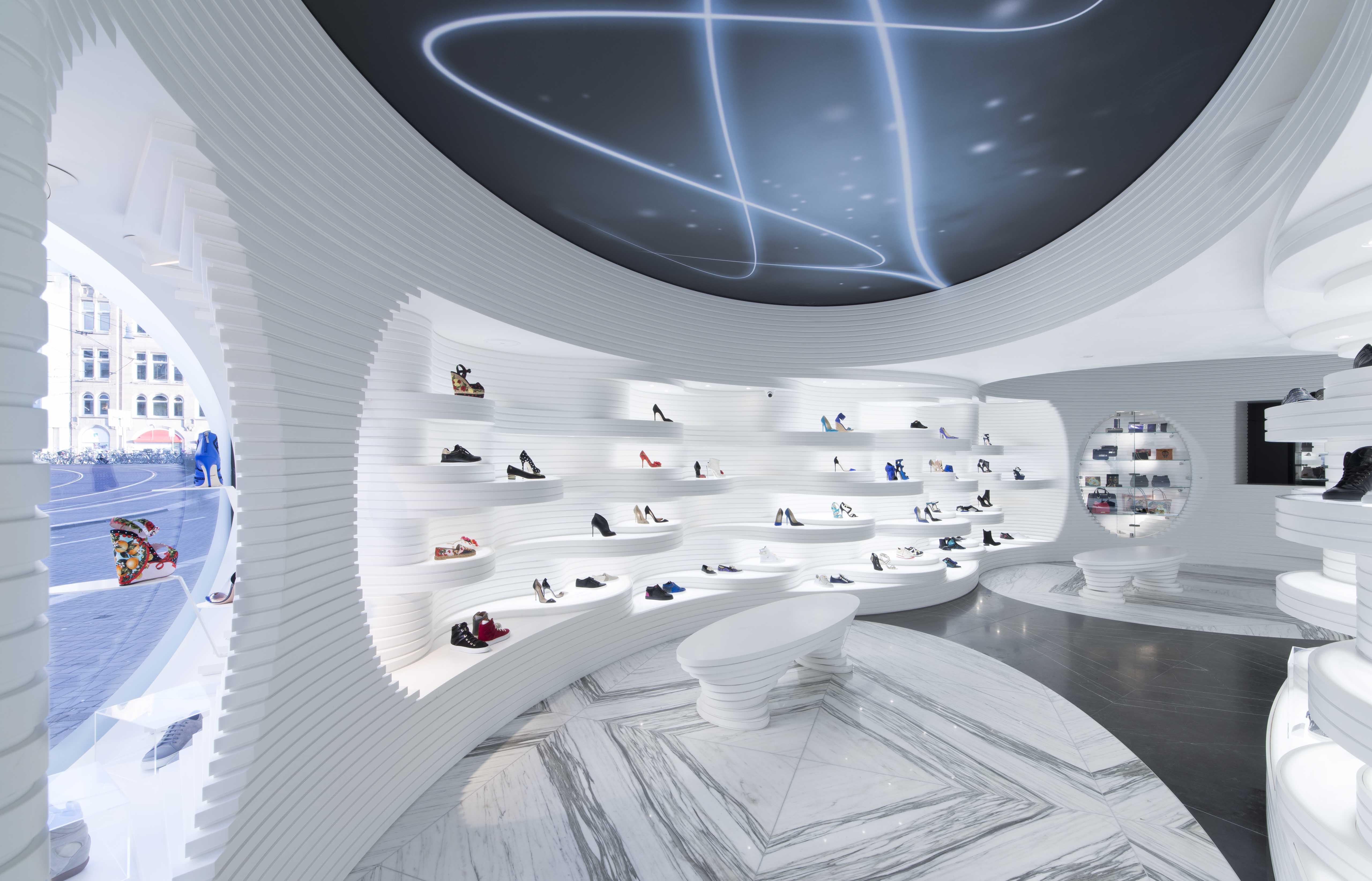 Winkel shoebaloo in amsterdam door mvsa de architect