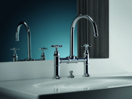 Perfect authentiek: AXOR Montreux. Nieuwe producten voor badkamer en keuken in jaren '20 stijl