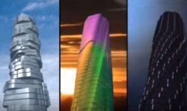 Hotel in Dubai in draaiende wolkenkrabber