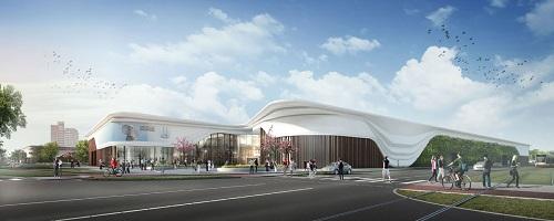 Mall of the Netherlands in Leidschendam. Het ontwerp is van MVSA Architects en OKRA Landschapsarchitecten