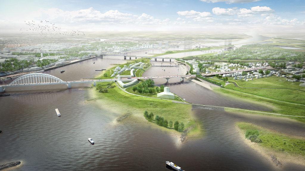 Rivierpark Ruimte voor de Waal winnaar Nederlandse Bouwprijs 2017 in de categorie civiele kunstwerken
