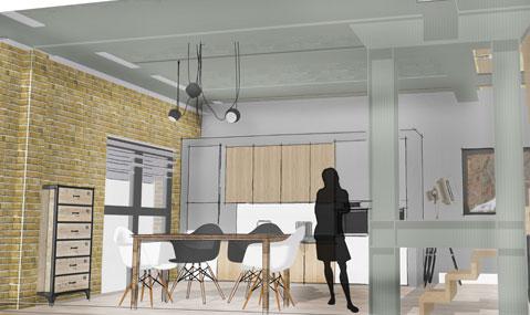 Transformatie KV50 Leiden naar woongebouw door PBV Architecten
