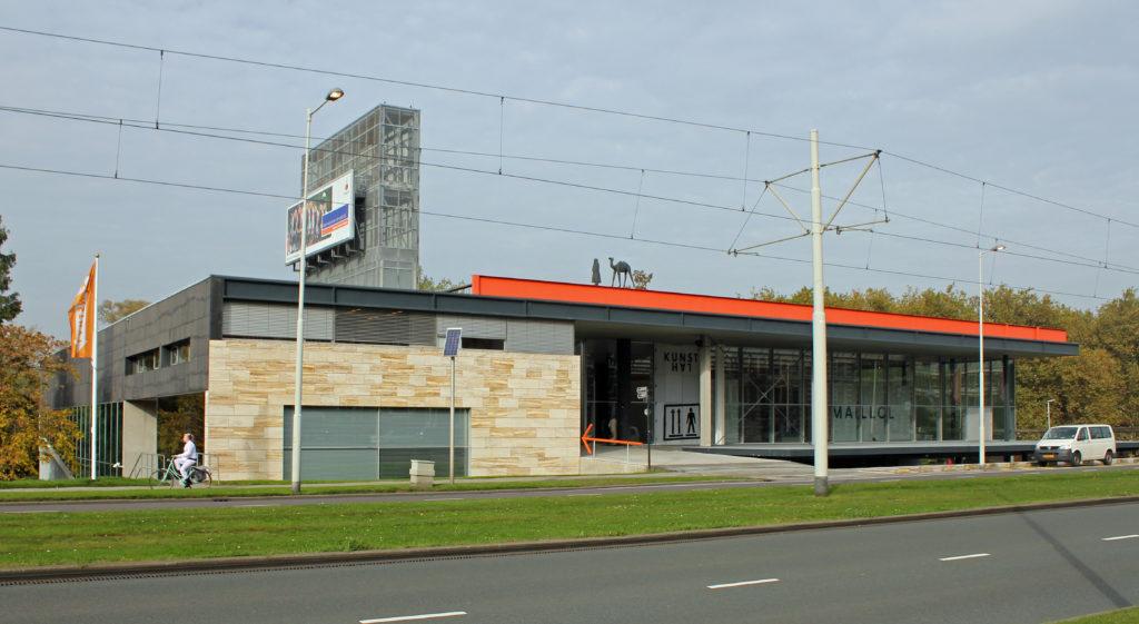 Museum en reclamezuil De Kunsthal