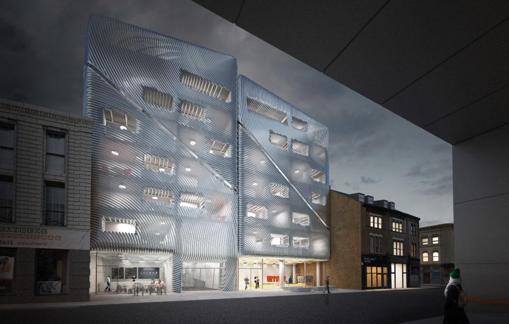 Voorstel woongebouwen Dalston Lane Londen door Matthijs la Roi