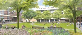 Stadspark op het Grotekerkplein Rotterdam geopend