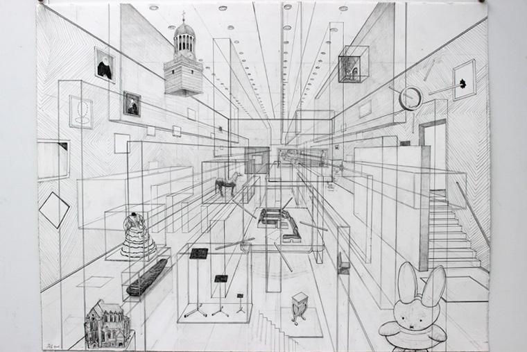 De ruimtelijke tekeningen op grootformaat van Robbie Cornelissen