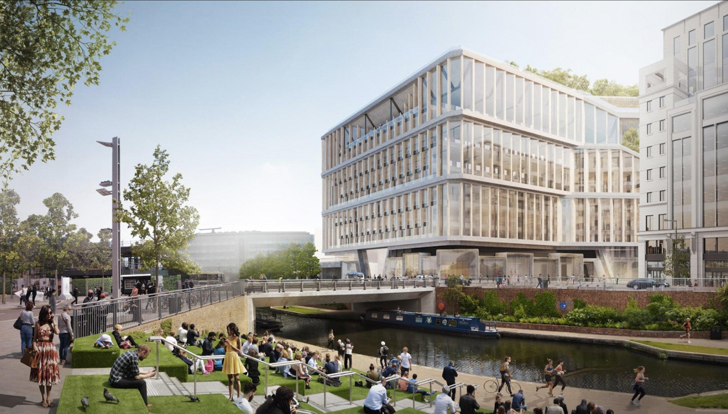 Google Hoofdkwartier Londen : Nieuw ontwerp google hoofdkantoor londen de architect