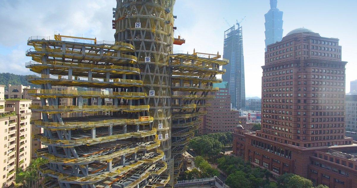 Callebaut Gedraaide duurzame toren Taipei