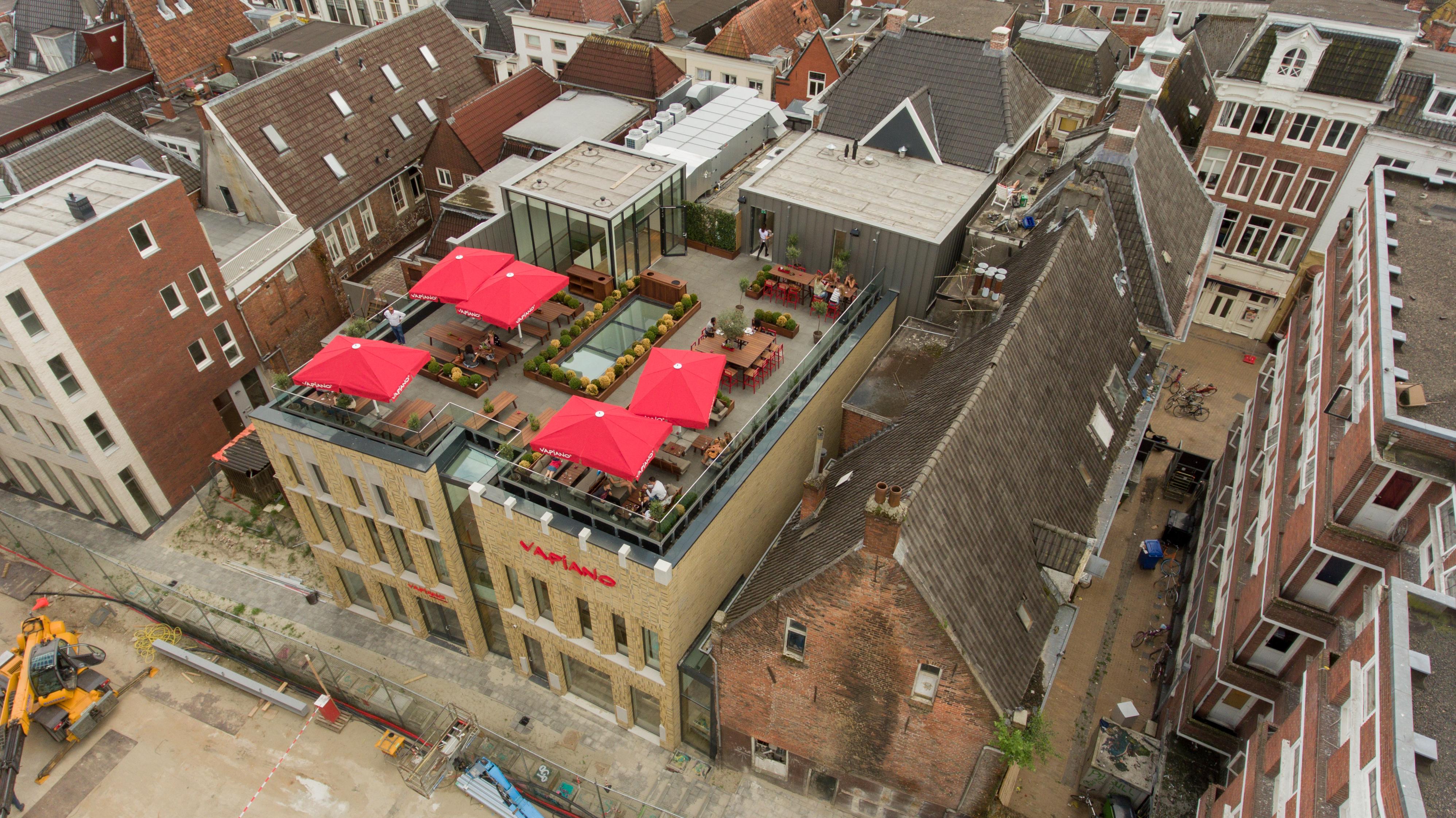 <p>luchtfoto locatie Nieuwe Markt. </p>