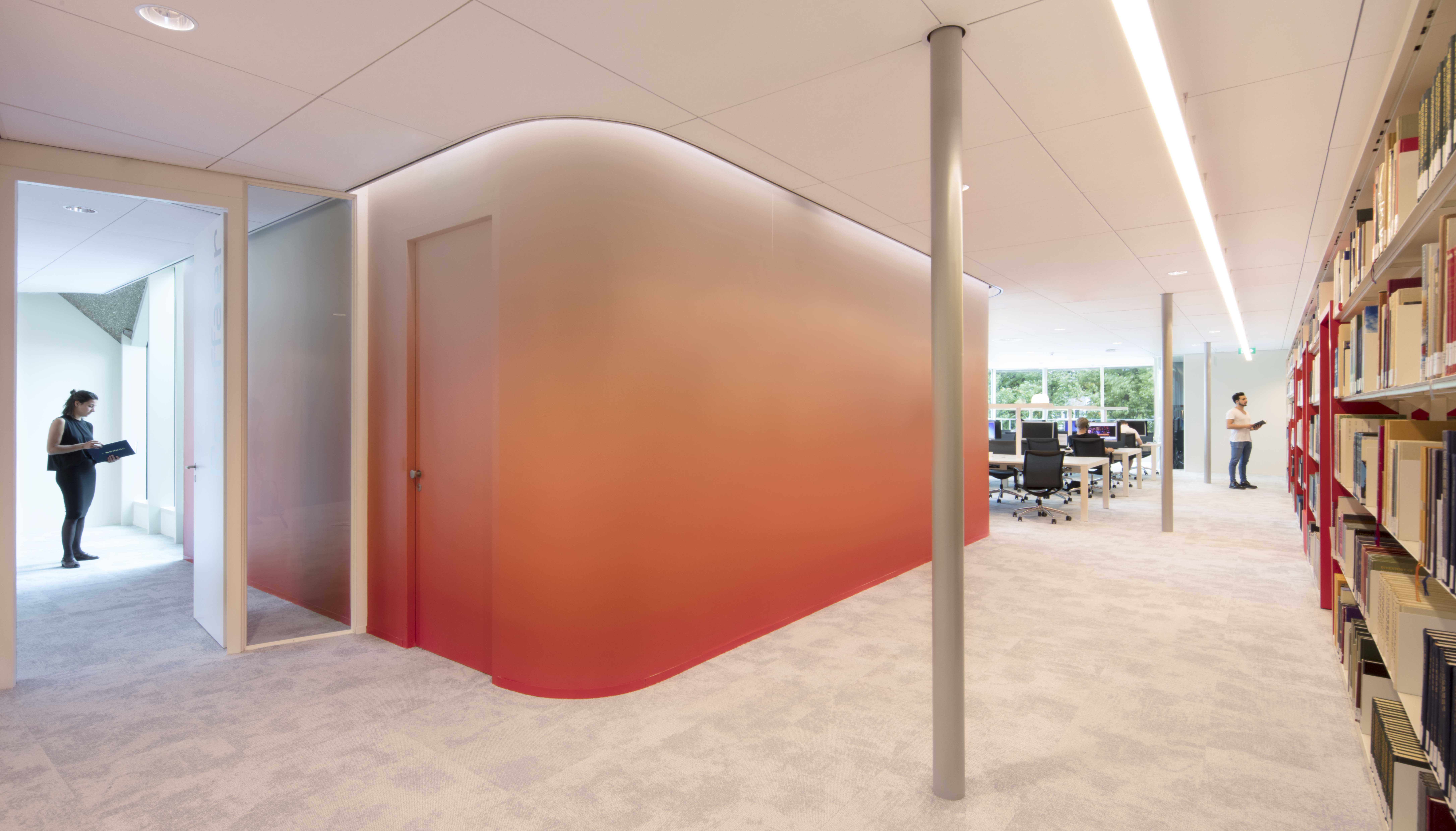 <p>Interieur beeld Asian Library universiteitsbibliotheek Leiden. foto: Jeroen Musch</p>