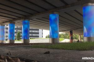 ARC17 Innovatie: Lichtkolommen wandelverbinding Plein 15, Schiphol – Armada Janse