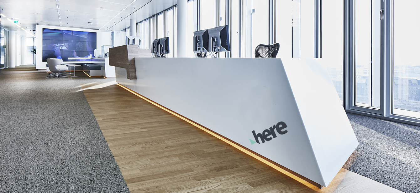<p>HERE Technologies Eindhoven entree</p>