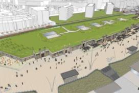 Sloop en nieuwbouw panden boulevard Scheveningen