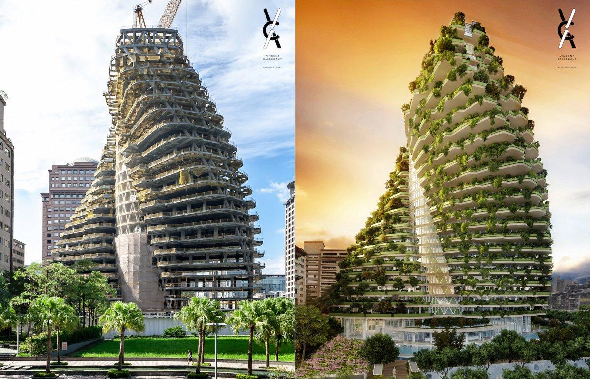 Tapei Callebaut duurzame gedraaide toren