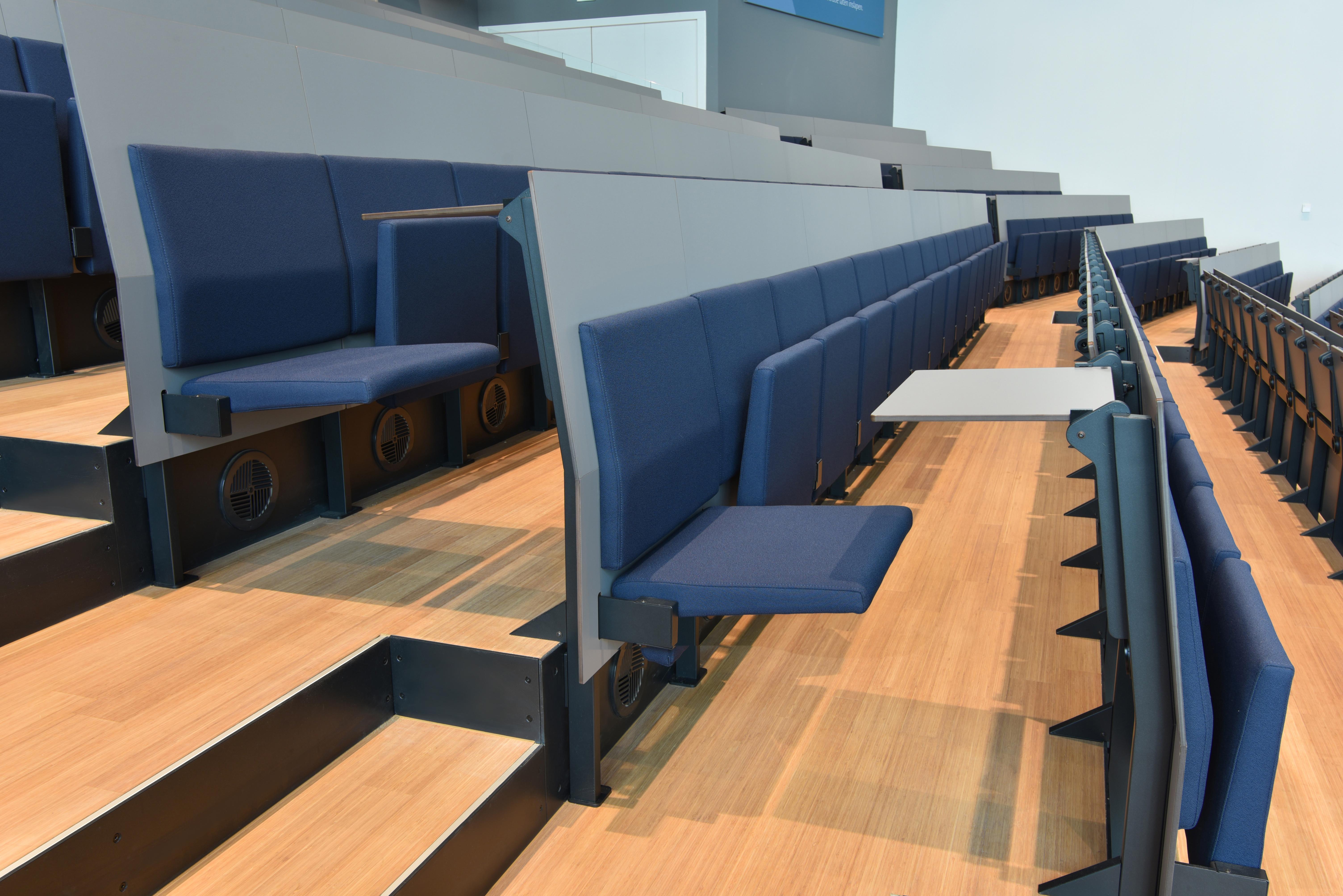 <p>Opklapbare stoelen en bladen, foto: Peter de Ruig</p>