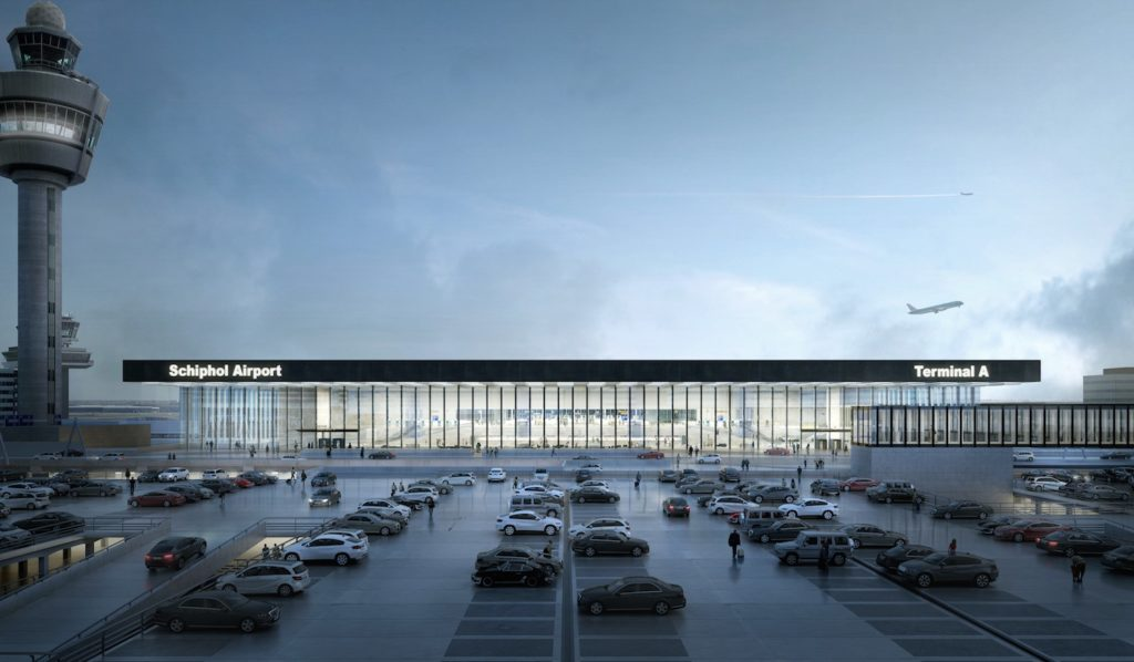 Amsterdam Airport Schiphol Terminal door KL AIR, beeld Filippo Bolognese