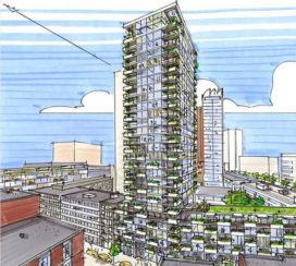 Nieuwe woontoren in Rotterdam