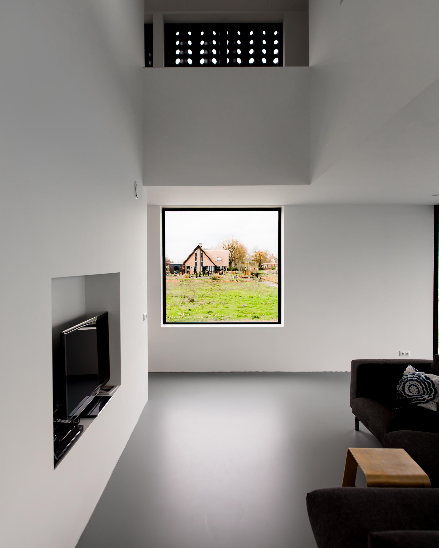 <p>Gevelscherm vanuit de lounge</p>