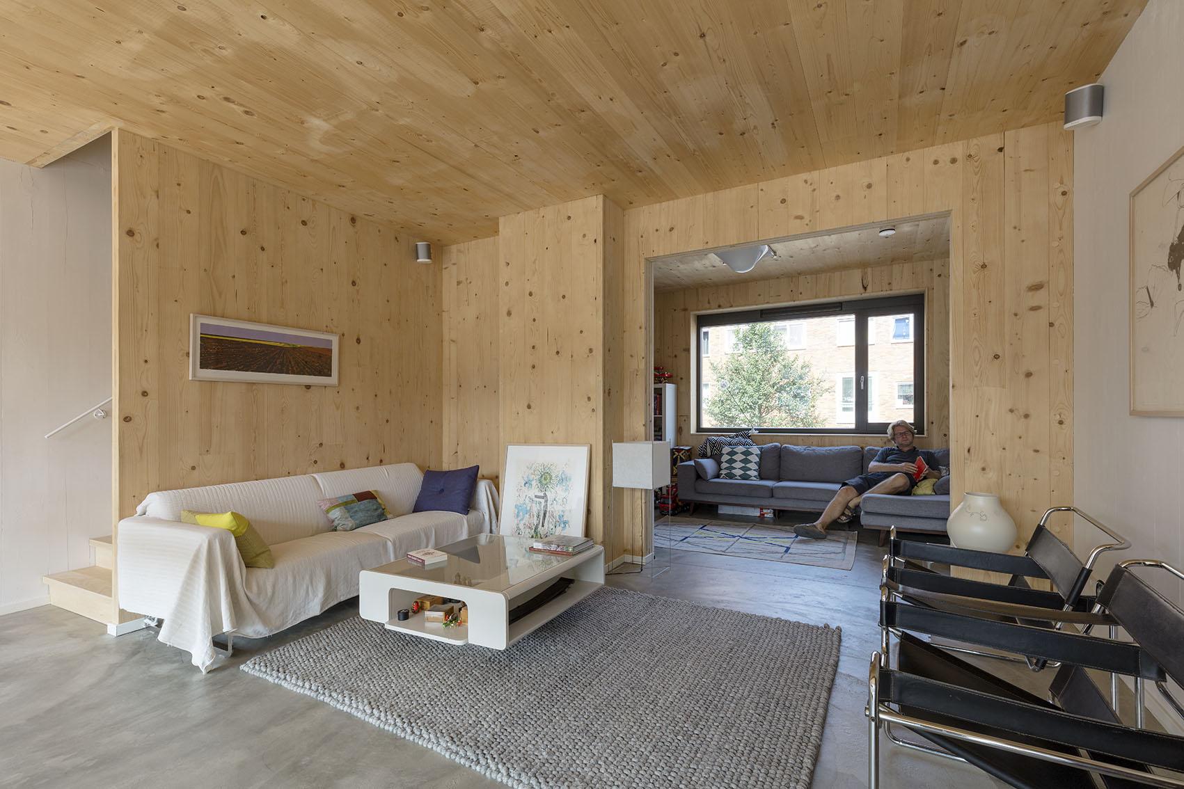 <p>Kavel 17 &#8211; woonkamer op 1e verdieping  foto: Marcel van der Burg</p>