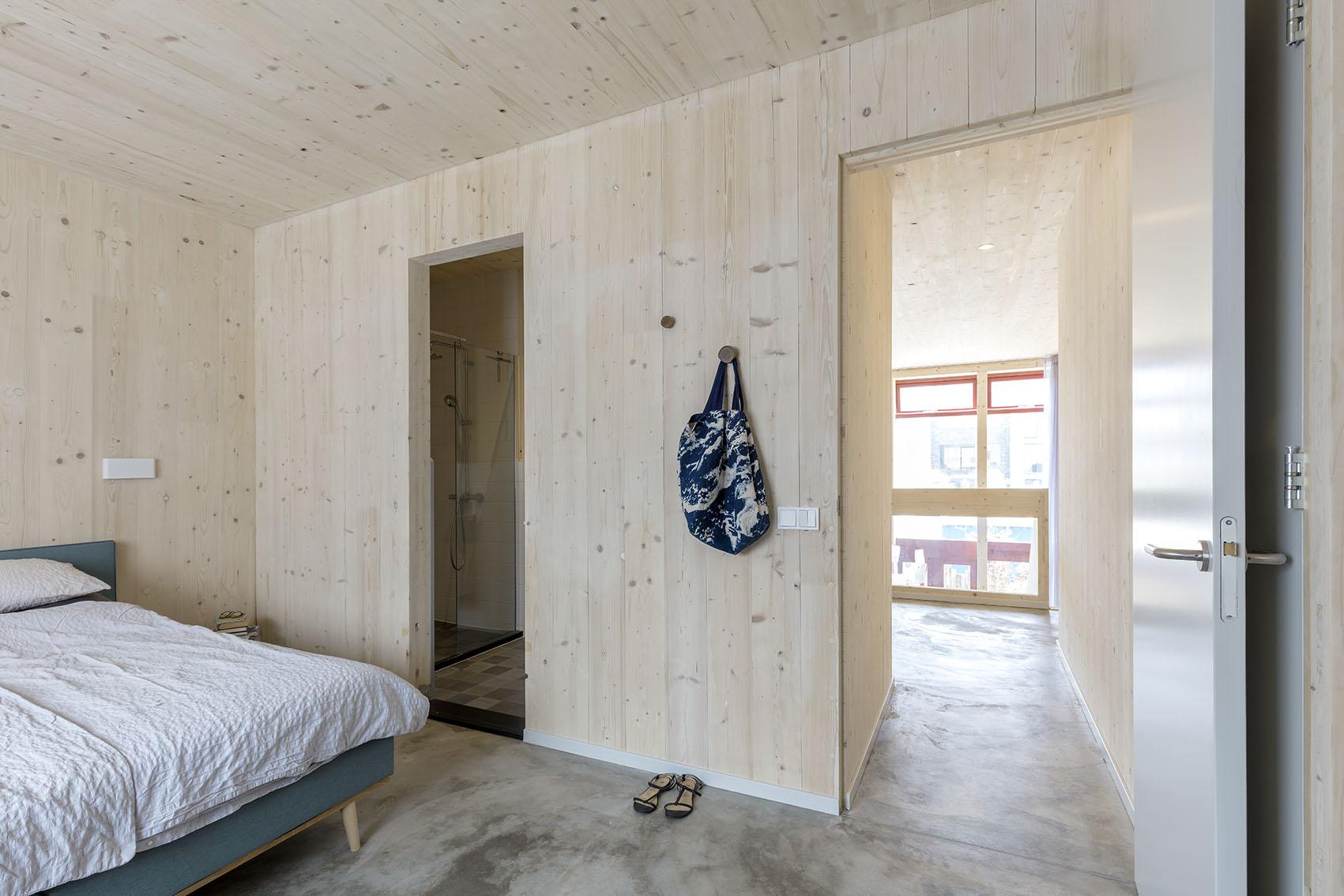 <p>Kavel 19 – slaapkamer met optionele badkamer op de 1e verdieping   foto: Marcel van der Burg</p>