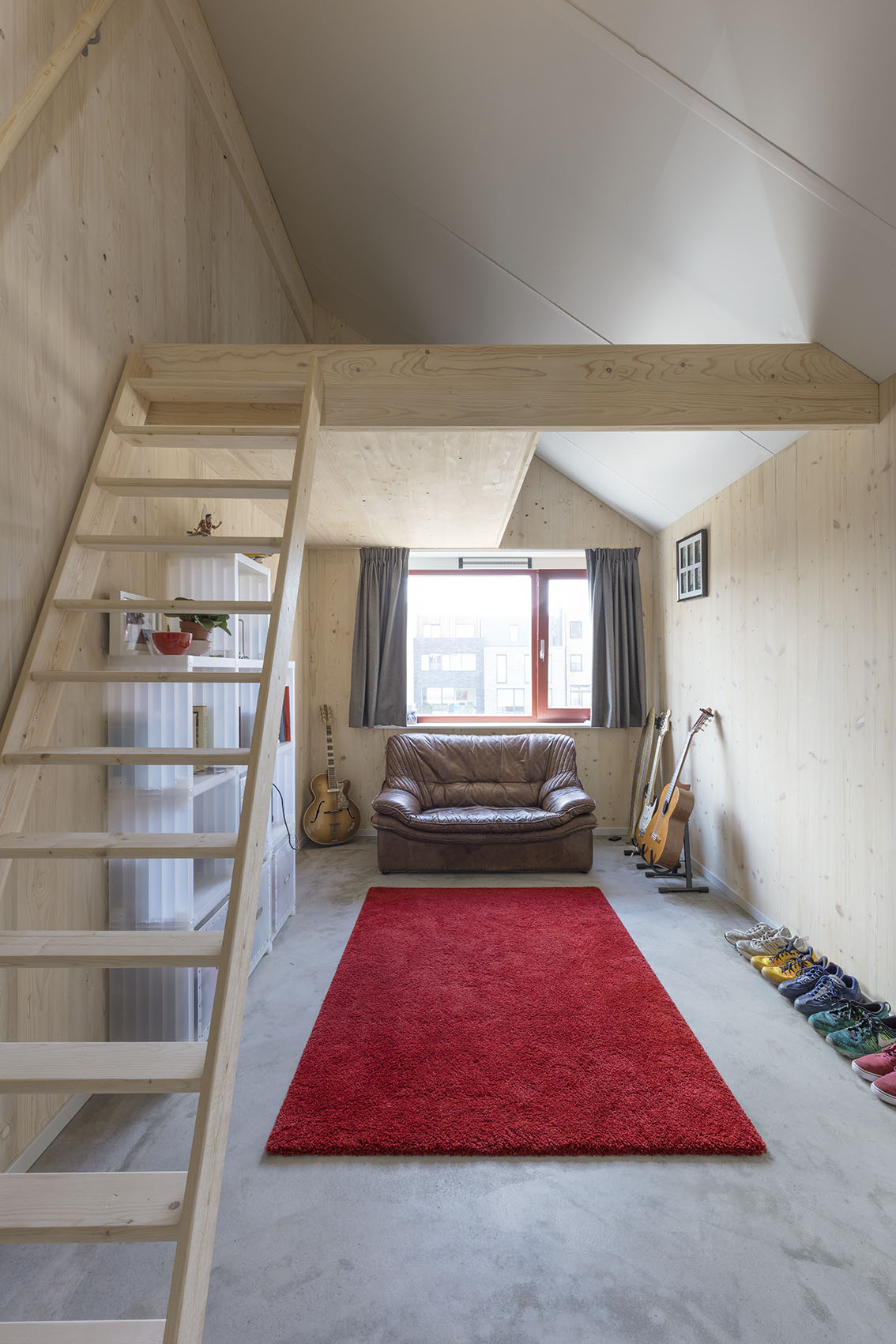 <p>Kavel 19 – kinderslaapkamer met optionele hoogslaper   foto: Marcel van der Burg</p>