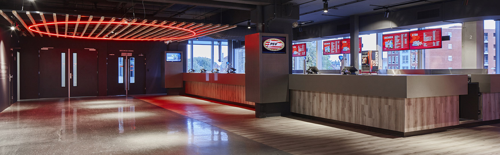 <p>Philips Stadion Promenade – revitalisering – thema plein + merchandise</p>