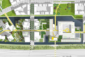 Bijlmer Bajes plannen: Bajeskwartier door OMA, LOLA Landscape en FABRICations