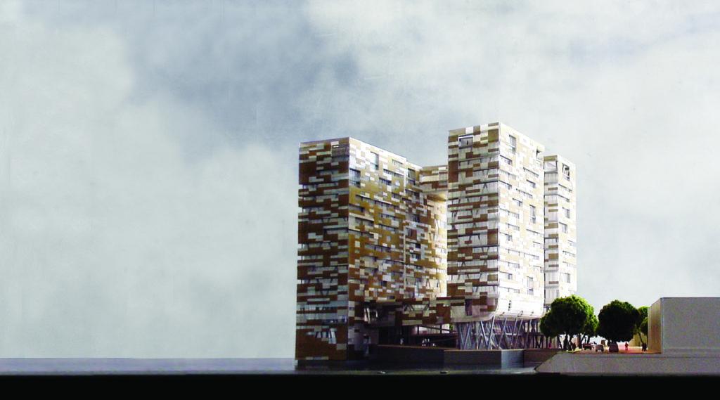 Tussen 1995 en 2010 werkte KCAP aan het plan voor het woongebouw Fountainhead binnen het stedebouwkundige plan voor Borneo-Sporenburg te Amsterdam van West 8 uit 1992. Beeld KCAP