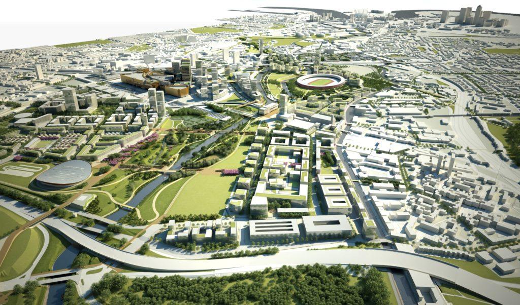 Het Legacy Masterplan Framework, gemaakt tussen 2007 en 2010, is een ontwerp voor de herontwikkeling van het Olympisch Park en de Lea Valley na afloop van de Olympische Spelen in Londen van 2012. Beeld KCAP