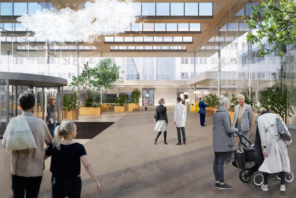 Ontwerp entreegebied UMC Utrecht. Beeld: de Jong Gortemaker Algra / Royal HaskoningDHV