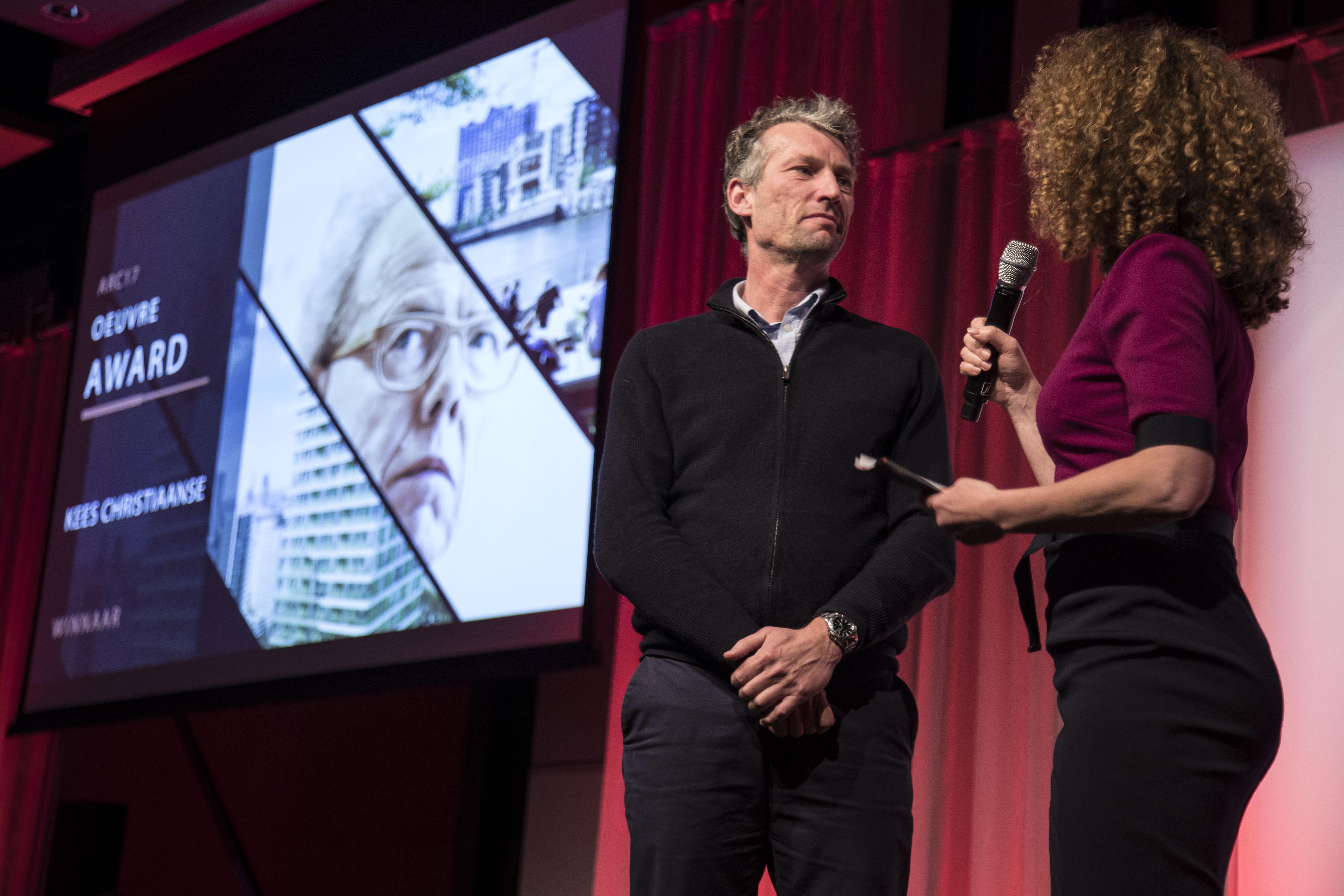 <p>Juryvoorzitter van de ARC17 Oeuvre Award: Patrick Klooster. Foto: Elvins Fotografie</p>